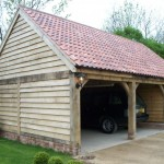 2 Bay Green Oak Garage