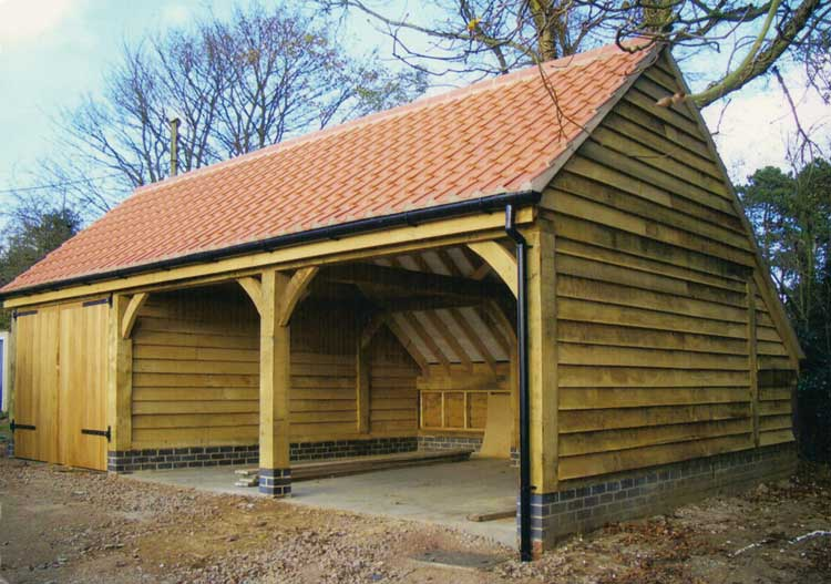 Oak Garages | Fully Bespoke Oak Frame Timber Garages ...