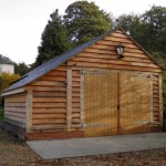 1 Bay Green Oak Frame Garage