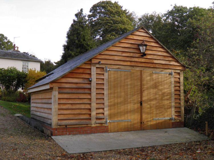 Oak garages fully bespoke oak frame timber garages for A frame garage