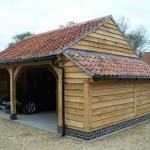 2 Bay Oak Garage With Log Store
